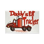 Daddys Lil' Trucker Rectangle Magnet