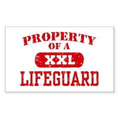 Property of a Lifeguard Rectangle Decal