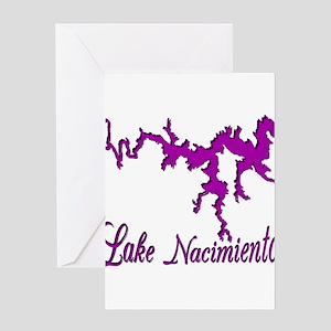 LAKE NACIMIENTO -3- purple Greeting Card
