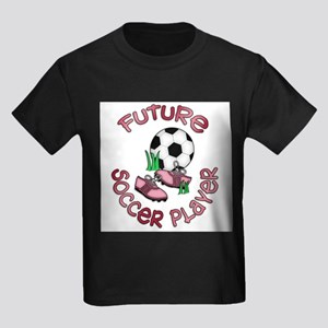 Future Soccer Player Girl Kids Dark T-Shirt
