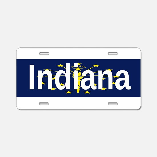 Indiana Aluminum License Plate