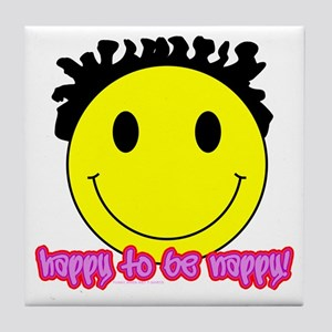 Happy To Be Nappy Tile Coaster