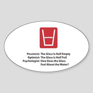 Psychologist Glass Oval Sticker