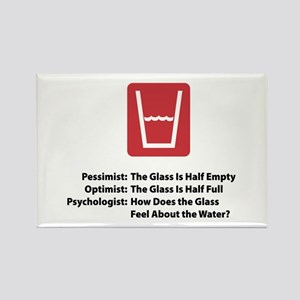 Psychologist Glass Rectangle Magnet