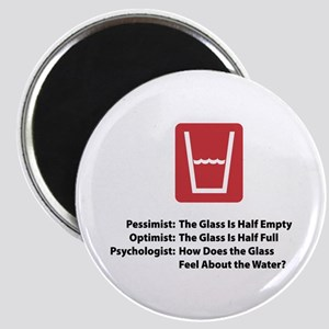 Psychologist Glass Magnet