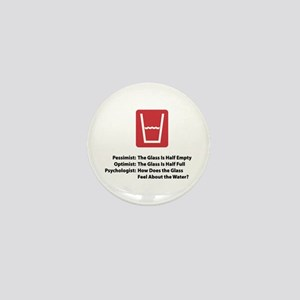 Psychologist Glass Mini Button