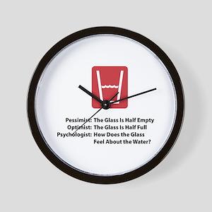 Psychologist Glass Wall Clock