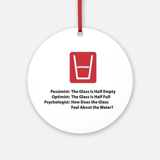 Psychologist Glass Ornament (Round)