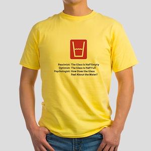 Psychologist Glass Yellow T-Shirt