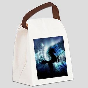 Unicorn Silhouette Canvas Lunch Bag