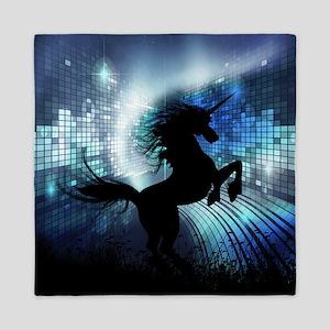 Unicorn Silhouette Queen Duvet