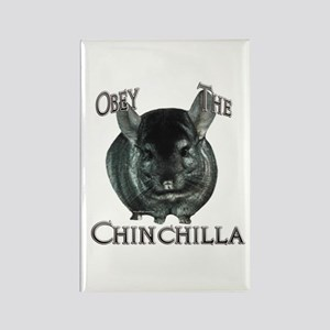 Chinchilla Obey Rectangle Magnet
