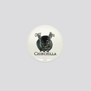 Chinchilla Obey Mini Button