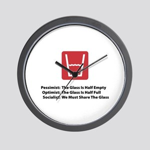 Socialist Glass Wall Clock
