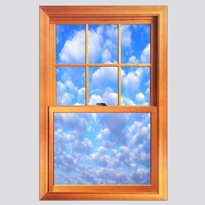 Large Trompe l'Oeil Window Poster 23 X 35""