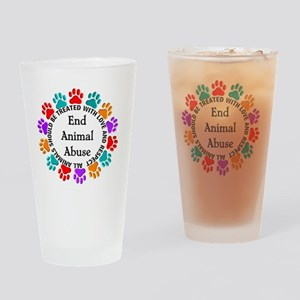 T-Fund 2 Animal Abuse Drinking Glass