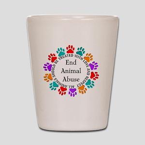 T-Fund 2 Animal Abuse Shot Glass