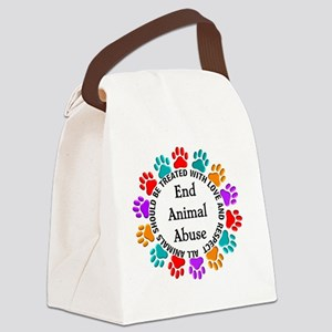 T-Fund 2 Animal Abuse Canvas Lunch Bag