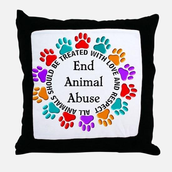 T-Fund 2 Animal Abuse Throw Pillow