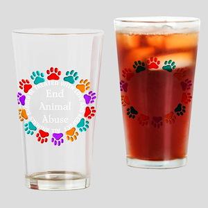 t=fund animal abuse DARKS Drinking Glass