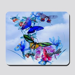 Throw Stadium Blkt Take Flight Butterfly Mousepad