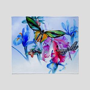Laptop Take Flight Bottom Butterfly Throw Blanket