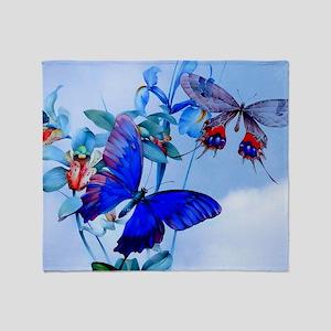 Laptop Take Flight! Butterfly Cattle Throw Blanket
