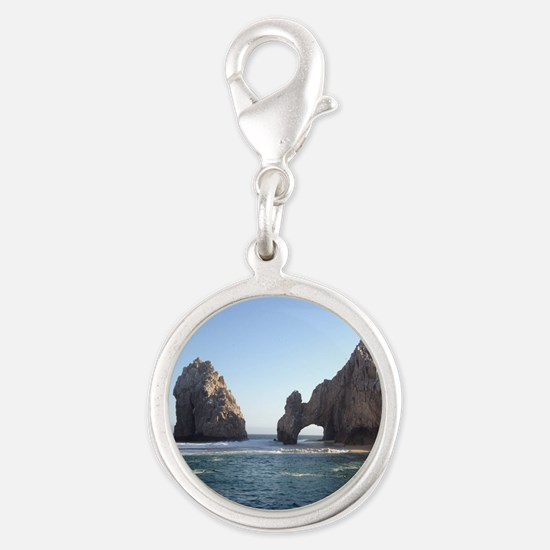 Cabo Wabo Silver Round Charm