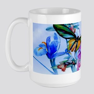 Key Hangar Take Flight Bottom Butterfli Large Mug