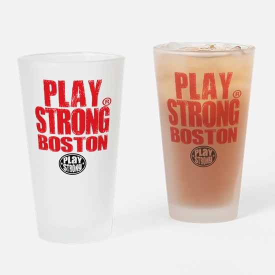 Play Strong BOSTON Drinking Glass