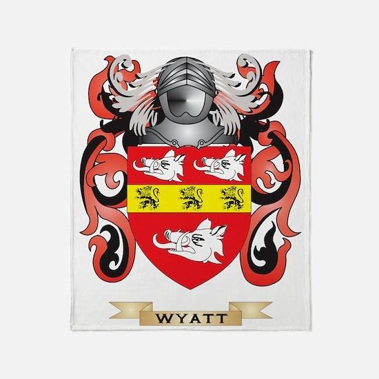 Wyatt Family Crest (Coat of Arms) Throw Blanket
