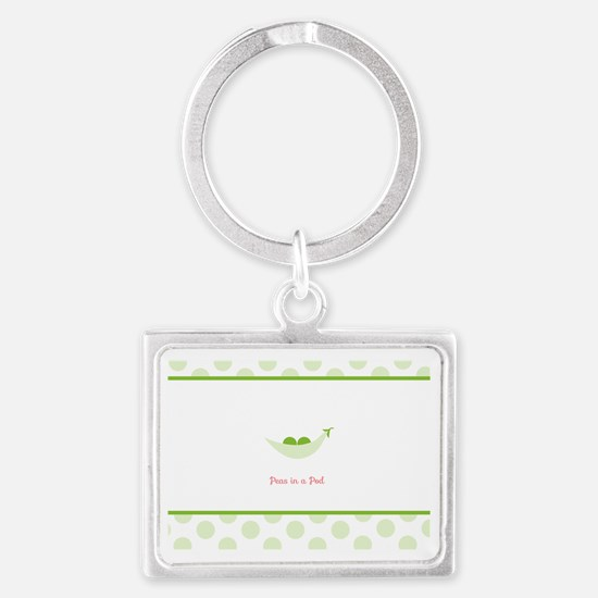 Peas in a Pod Landscape Keychain