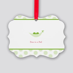 Peas in a Pod Picture Ornament