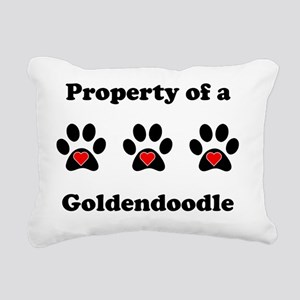 Property Of A Goldendood Rectangular Canvas Pillow