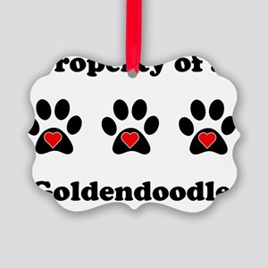 Property Of A Goldendoodle Picture Ornament