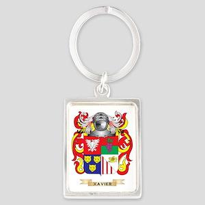 Xavier Family Crest (Coat of Arm Portrait Keychain