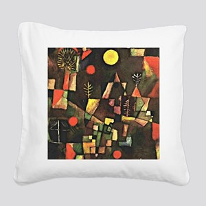 Paul Klee art, Full Moon Square Canvas Pillow