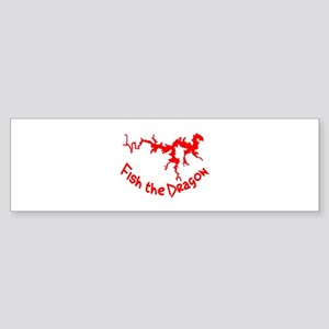 FISH THE DRAGON Bumper Sticker