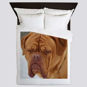 Dour Dogue Stare Queen Duvet