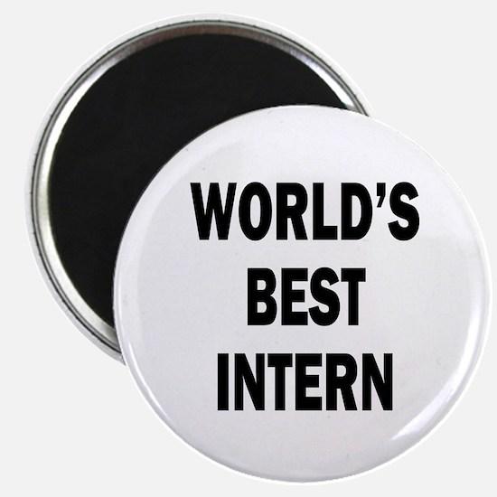 """World's Best Intern 2.25"""" Magnet (10 pack)"""