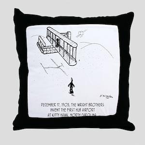 First Hub Airport Throw Pillow
