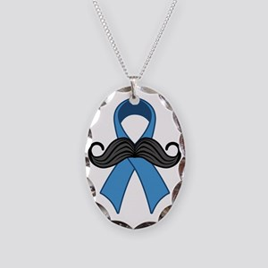 Prostate Awareness Ribbon Mous Necklace Oval Charm