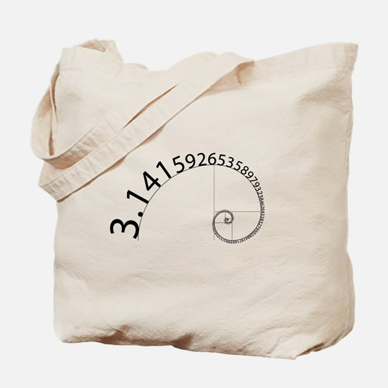 Pi to 100 Digits Tote Bag