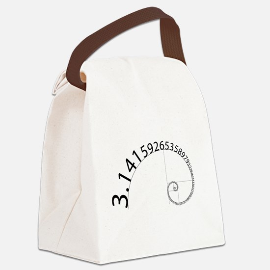 Pi to 100 Digits Canvas Lunch Bag