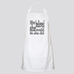 She Believed She Could Apron