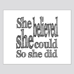 She Believed She Could Small Poster