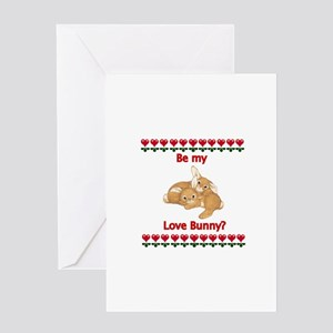 Love Bunny Greeting Cards