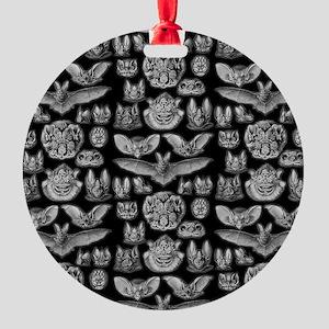 Vintage Bat Illustrations Round Ornament