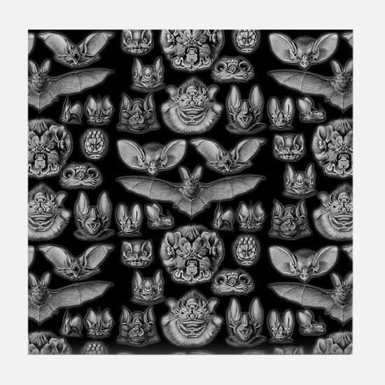 Vintage Bat Illustrations Tile Coaster
