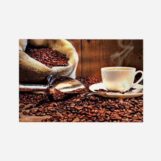 Coffee Aroma Rectangle Magnet